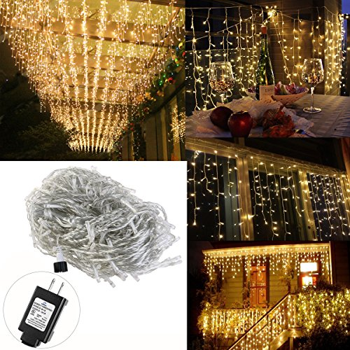Warm Led Icicle Christmas Lights