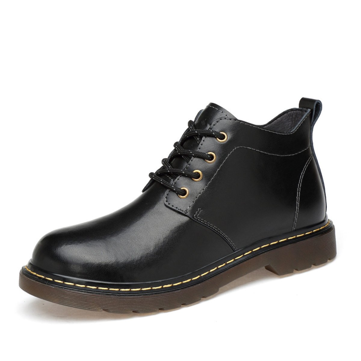 Paare Martin Stiefel Rutschfest Leder Wüste Stiefel Ärmel Stiefel Schuhe In Der Mitte schwarzschuhe