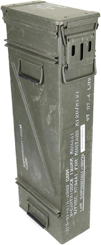 Tamaño & Estrecho texto original en la caja de municiones usadas Ejército de los E.E.U.U. Caja de metal Caja Mun Contenedor Metallbox: Amazon.es: Deportes y aire libre