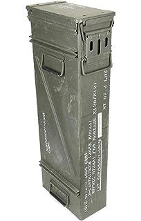 Caja original de munición usada de los EE.UU.-Caja metálica para munición, para 200 balas del calibre 7.62.: Amazon.es: Deportes y aire libre