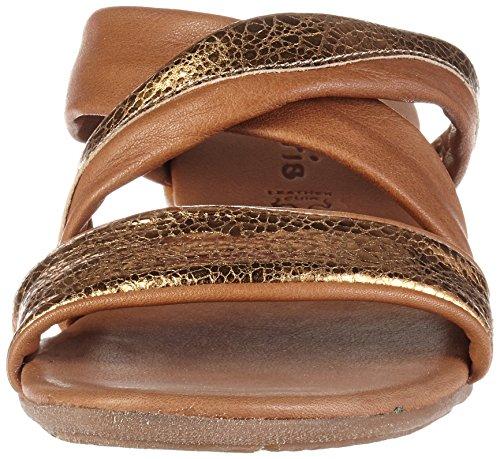 Tamaris 27114, Sandalias con Cuña Para Mujer Marrón (Cognac/bronce 338)