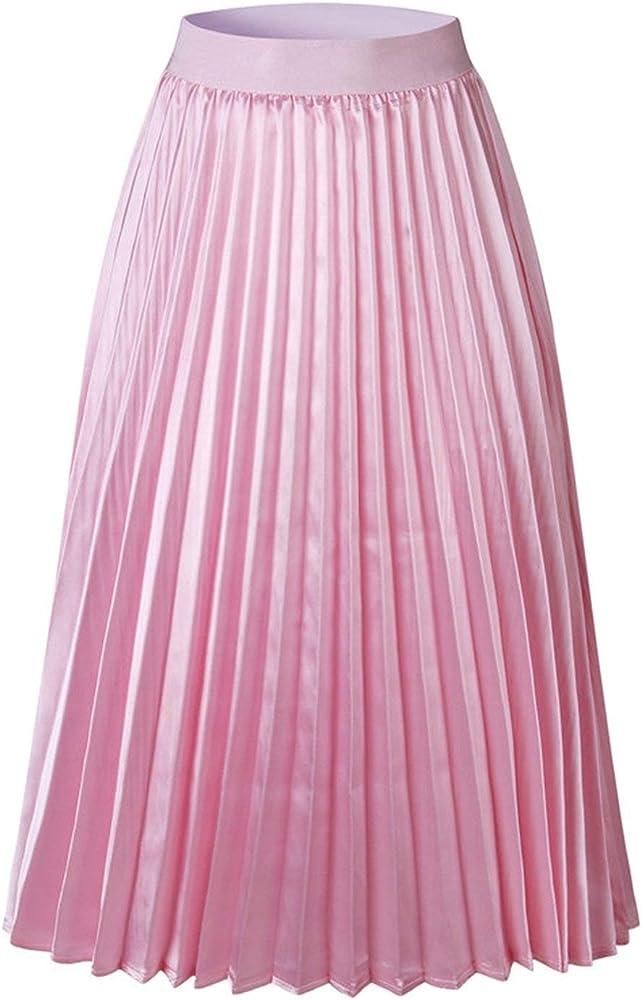 Heat-Tracing Falda de satén de Seda de Cintura Alta para Mujer ...