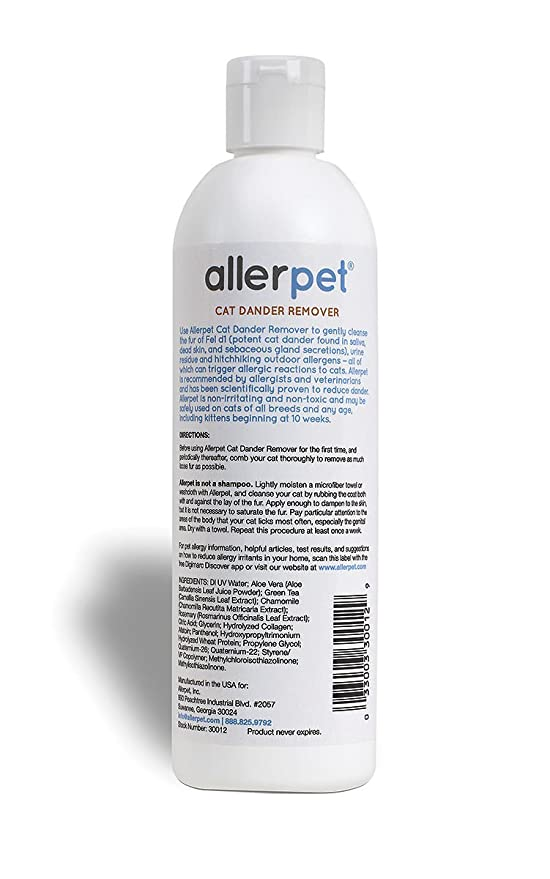 Allerpet - Quitamanchas para gatos, solución de alivio de alergias, 325 ml: Amazon.es: Productos para mascotas