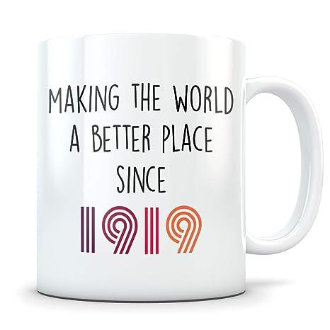 Amazon.com: Divertido regalo de 100 cumpleaños, taza de 100 ...