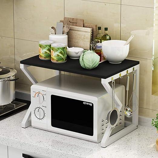 WWDS Estante para Horno Microondas,Estante,2 Pisos Cocina Horno ...