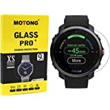MOTONG for Polar Grit X Screen Protector - Tempered Glass Screen Protectors for Polar Grit X Watch,9 H Hardness,0.3mm…