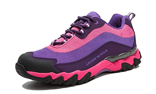 Outdoor Hiking Shoes Cow Leather Mesh Trekking Running Climbing Trail  Athletic Sports Mountain Leisure Walking Climbing