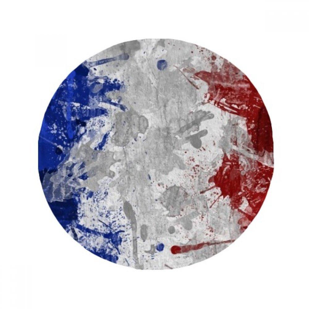 60X60cm DIYthinker France Flag Country City Culture Anti-Slip Floor Pet Mat Round Bathroom Living Room Kitchen Door 60 50Cm Gift