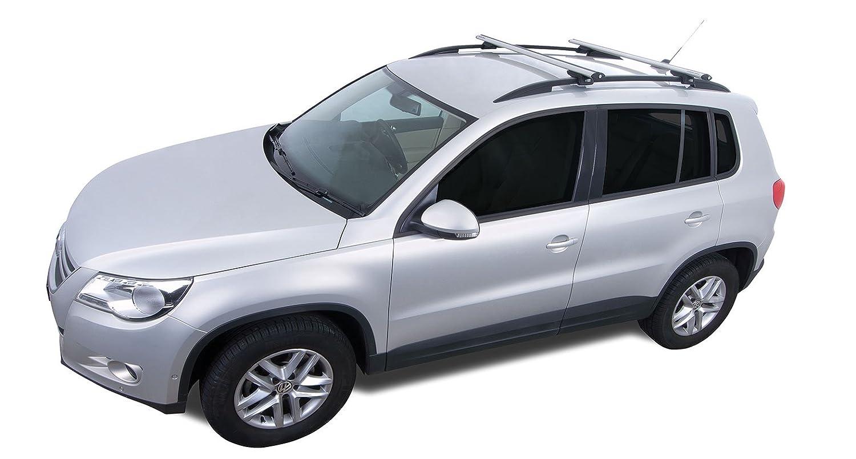 Rhinoラック2009 – 2013 Infiniti fx35 fx37 fx50 200 – 2008 fx45 1996 – 2000 Dodge Caravan Grand Caravan 2004 – 15レクサスRX 2008 – 2012フォードエスケープ4dr SUV with屋根レール渦SXシルバー2バー屋根ラックja9140 B0758VQ8J3
