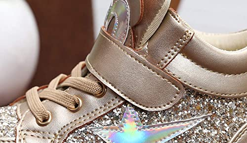Toddler//Little Kid iDuoDuo Girls Twinkle Sequins Princess Cartoon Tongue High Top Party Strap Sneakers