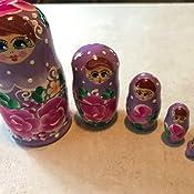 Amazon.com: Lote de 3 juegos de 5 bonitas muñecas apilables ...