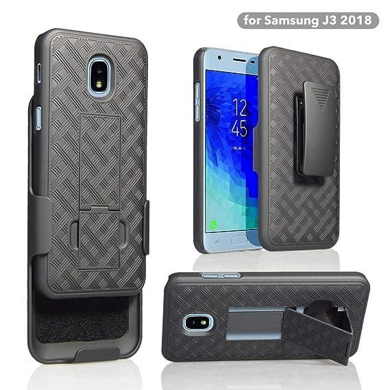Wydan Compatible Case for Samsung Galaxy J3 2018, J3 V 3rd Gen J3V, Orbit,  Express Prime 3, J337, Star, Achieve, Aura, Amp Prime 3 - Rugged Slim