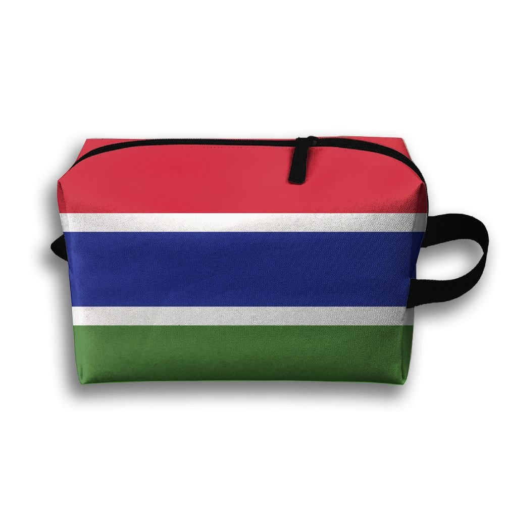 bd463576d479 delicate Leisue Gambia Flag Cosmetic Bag Zipper Makeup Accessories Pouch  Toiletries Bags Pen Pencil Power Lines