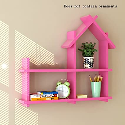 Amazon.com: ALUS- Creative Room Type Wooden Wall Shelves/Floating ...