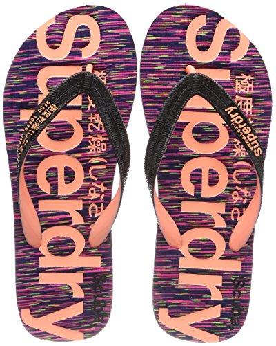 Superdry Scuba Flip Flop, Chanclas Para Mujer Rosa (Purple Slub)