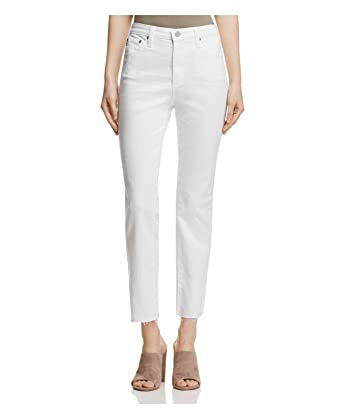 2de4050d16fe AG Adriano Goldschmied AG The Isabelle High Waist Crop Straight Leg Jeans,  White (26