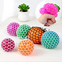 Novelty Mesh Squishy Ball for Anti Stress Squeeze Grape Ball Relieve Pressure Ball Toy with Random Color - 1 PCS (Crystal Color)