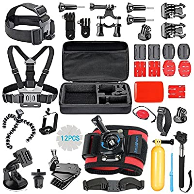 SmilePowo 42-in-1 Accessory Kit for GoPro Hero5 Black, Hero5 Session, Hero 4 Silver Black, Hero Session, Accessory Bundle Set for GoPro Hero3+ 3 2 1, SJ Cam Xiaomi from SmilePowo