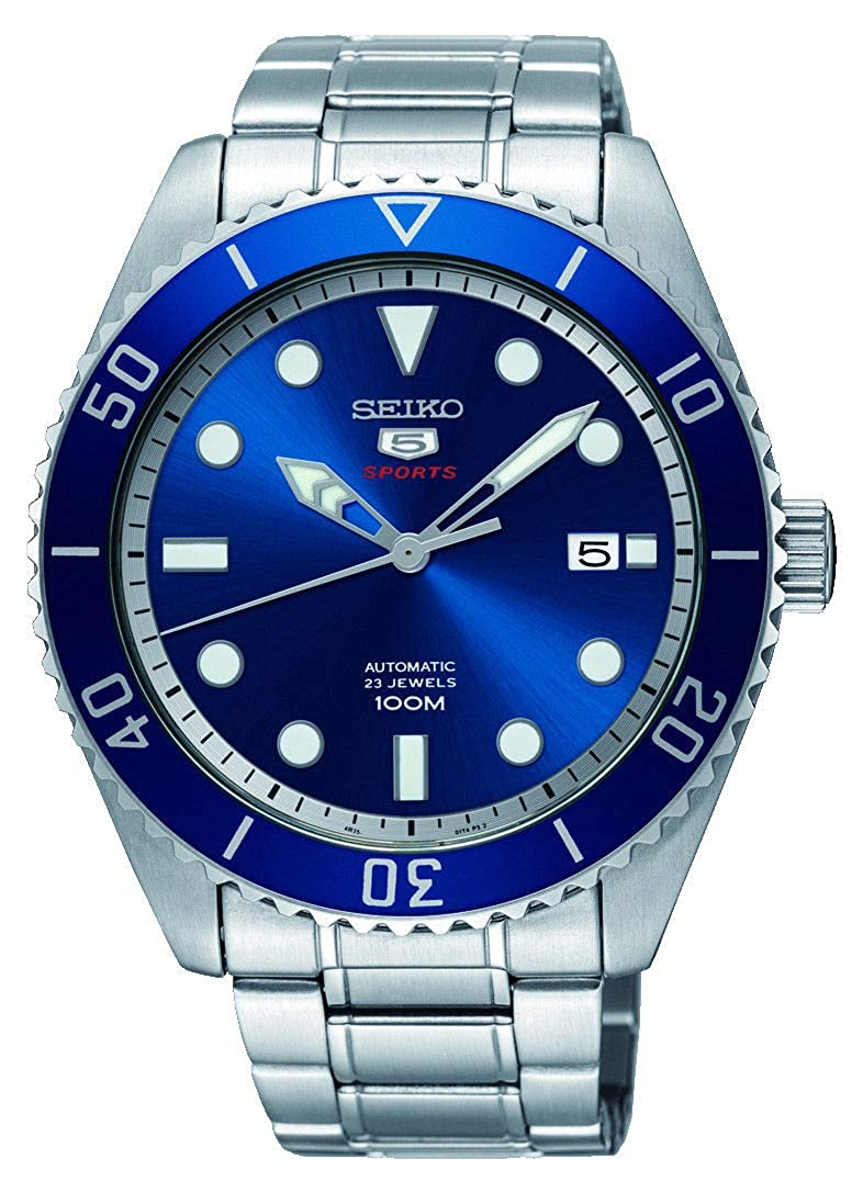 Seiko 5 SRPB89K1, Steel Watch, Blue Watch, Automatic Watch