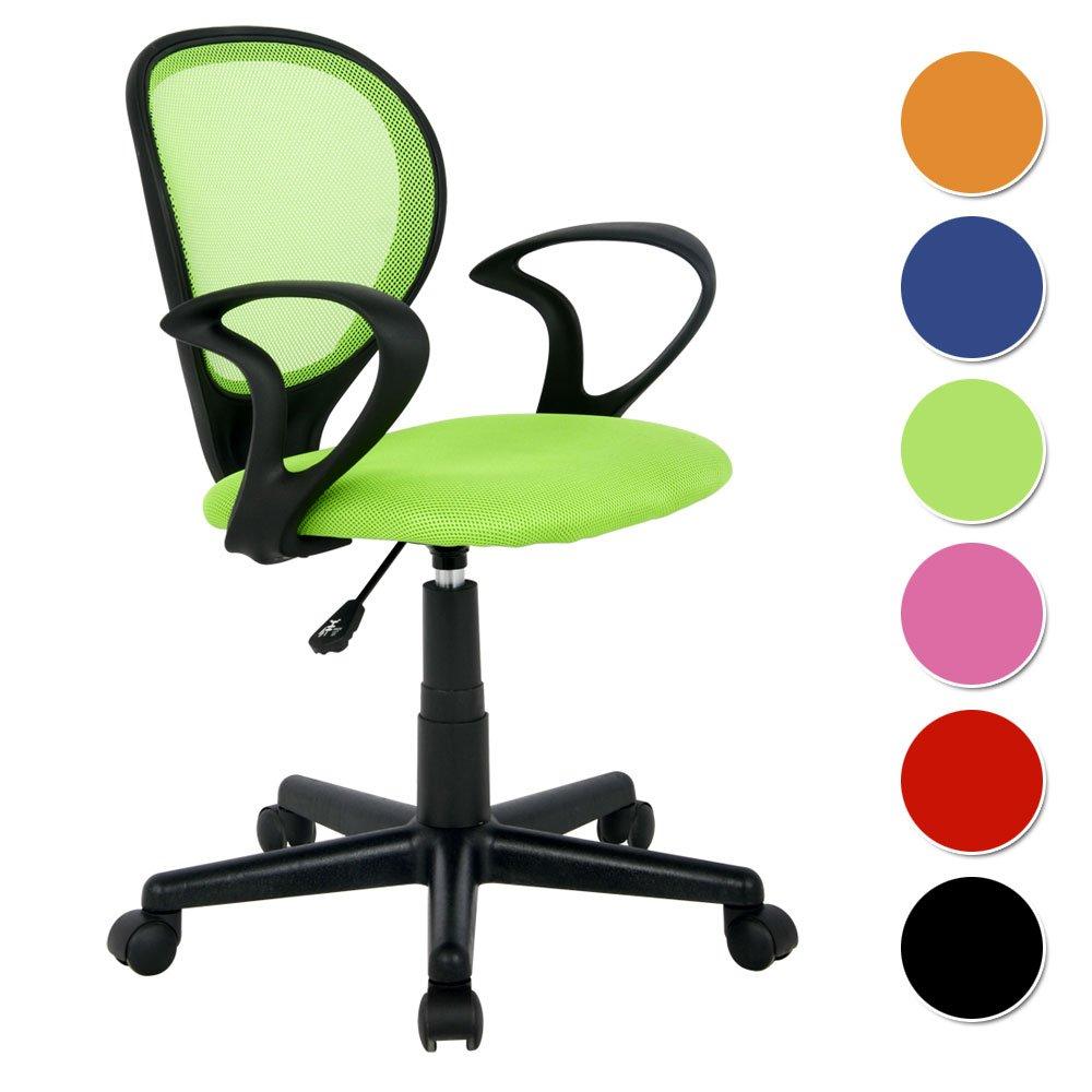 Kinderschreibtischstuhl grün  SixBros. Bürostuhl Drehstuhl Schreibtischstuhl Grün - H-2408F/1408 ...