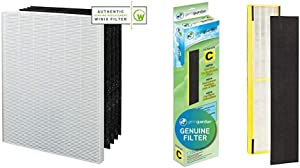 Genuine Winix 115115 Replacement Filter A & GermGuardian Air Purifier Filter FLT5000 GENUINE HEPA Replacement Filter C for AC5000, AC5000E, AC5250PT, AC5350B, AC5350BCA, AC5350W, AC5300B