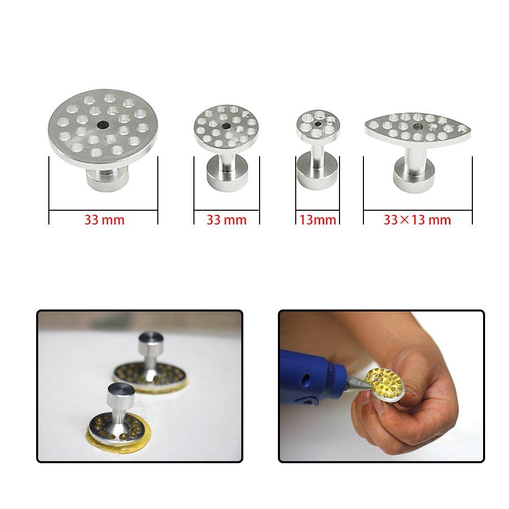 JMgist PDR Puller Tabs Dent Repairs Tools Set Aluminium Glue Pulling Tabs Auto Body Paintless Dent Removal Kits 32pcs