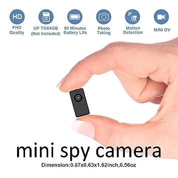 Cámara espía Oculta Mini grabadora DVR de Uso Corporal, tamaño pequeño, 1080P con 90 Minutos de ...