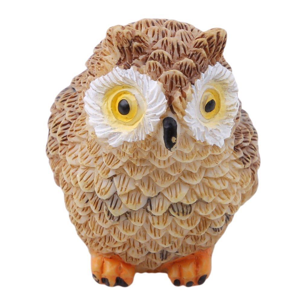 Amazon.com : JINMURY 4Pcs Resin Miniature Fairy Garden Owl Statues ...