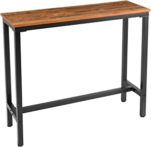 """Mr IRONSTONE Bar Table 47"""" Pub Dining Height Table Bistro Table with Vintage Textured Top (Indoor USE ONLY)"""