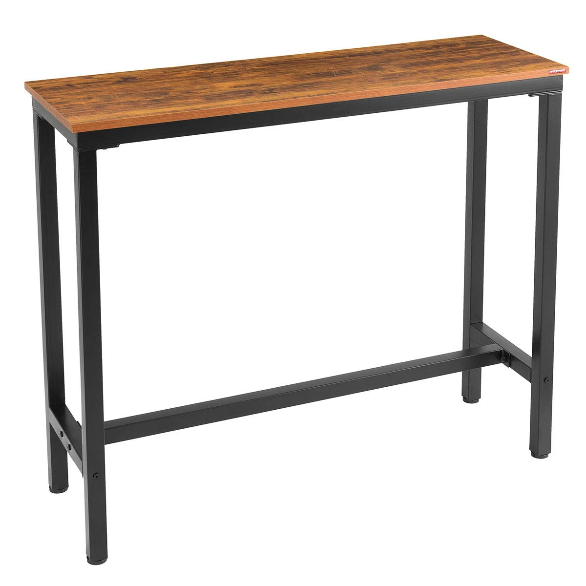 Mr IRONSTONE Bar Table 47 Pub Dining Height Table Bistro Table with Vintage Textured Top Indoor USE ONLY