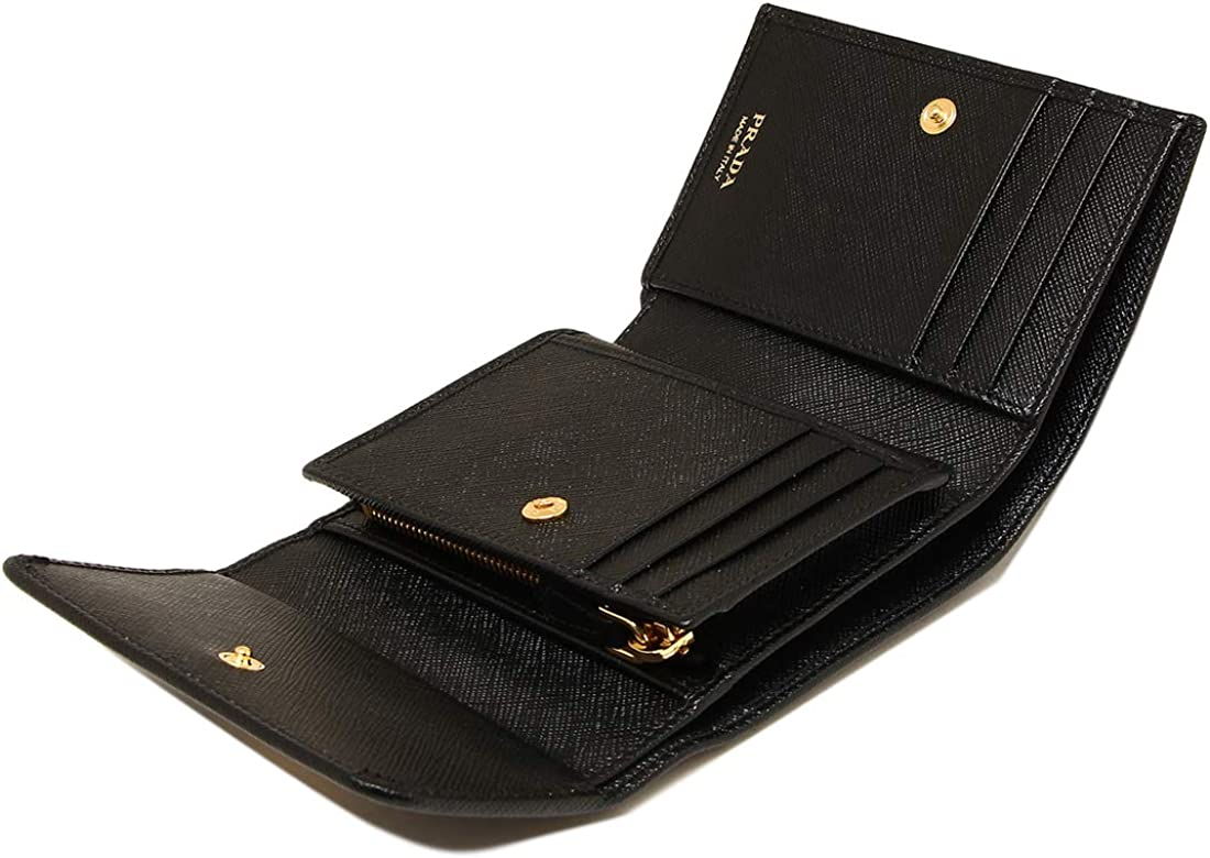 [プラダ] 三つ折り財布 サフィアーノ ミニ財布 レディース PRADA 1MH025 QWA (1)NERO(F0002) ブラック [並行輸入品]