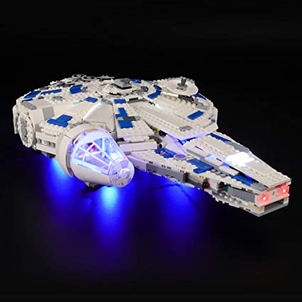 Lighting LED kit to fit LEGO Star Wars models such as Millennium Falcon White