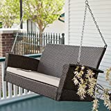 wicker porch swings Coral Coast Soho Wicker Porch Swing with Free