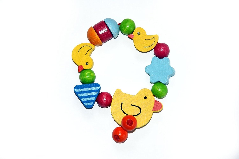 Greifling aus Holz, Greifrassel Baby, Greifling aus Holz Ente Emma, Spielzeug fü r Babys Rassel, Kleinkindspielzeug