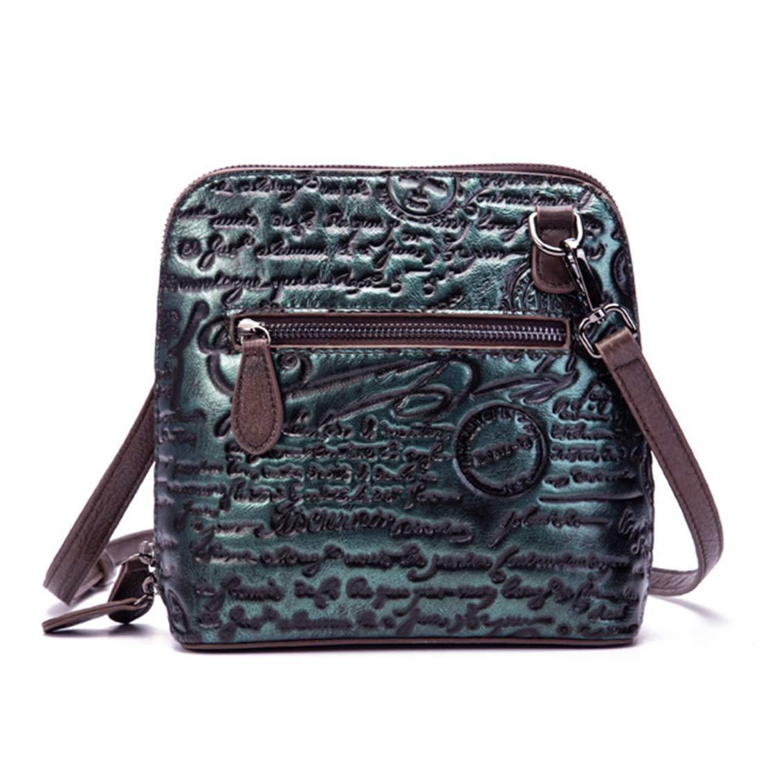 Klerokoh Vintage Echtleder Echtleder Echtleder Crossbody Tasche Geldbeutel Schulranzen Handtasche für Damen (Farbe   Grün) B07PCHL7WL Umhngetaschen Einfacher Stil 24d4e5