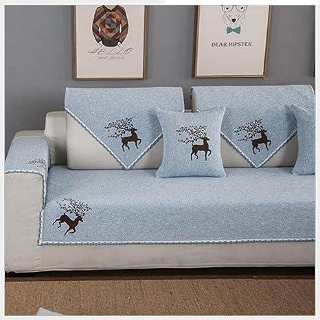 Gxzdfdztygh Cojín de sofá de algodón Toalla de sofá Funda de ...