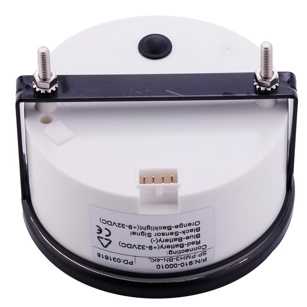 24V 0-4000 RPM 85mm Calistouk Tac/ómetro Marino Indicador Medidor Od/ómetro de Horas 12