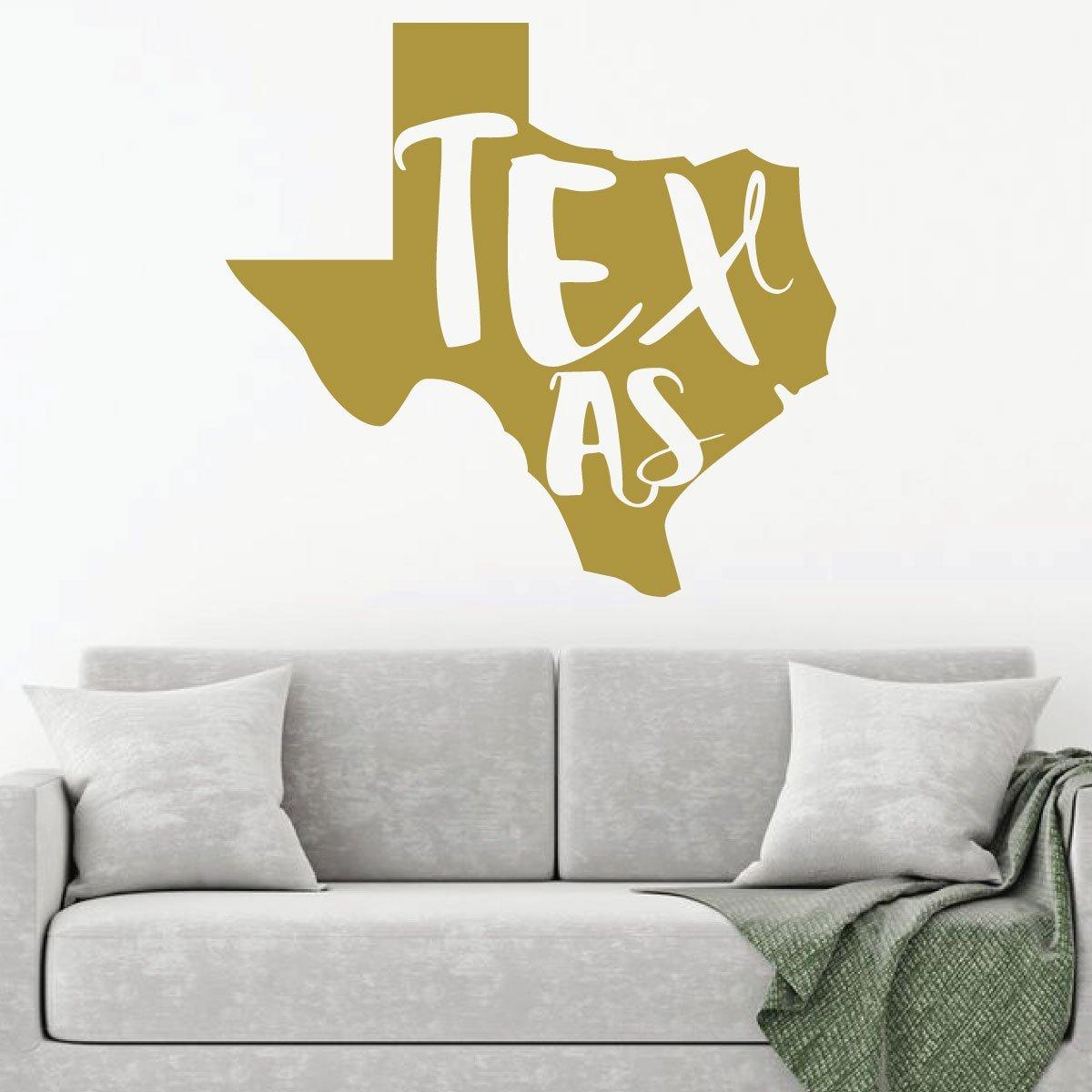 Amazon.com: Texas Wall Decor - State Silhouette - Vinyl Art Decal ...