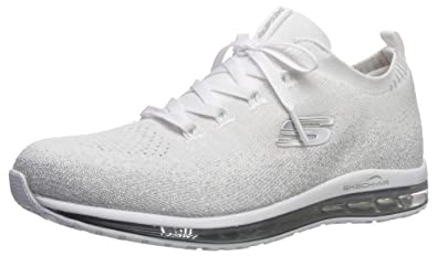 Skechers Women's Skech AIR Element Shoe, Whitesilver, 5 M US NanIm