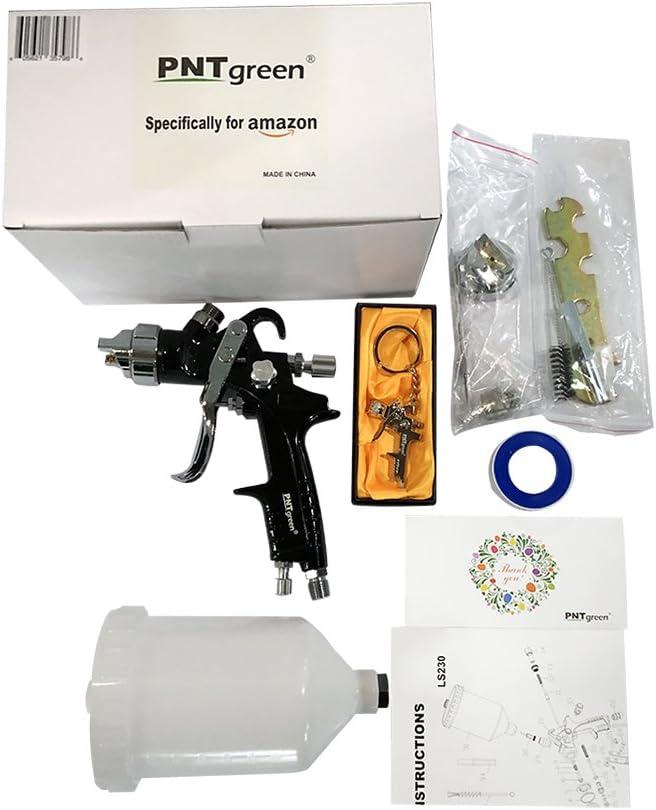 alto volumen en baja presi/ón Pistola aer/ógrafo para pintura en aerosol con pulverizador de pintura pulverizadora de aire comprimido con sistema HVLP
