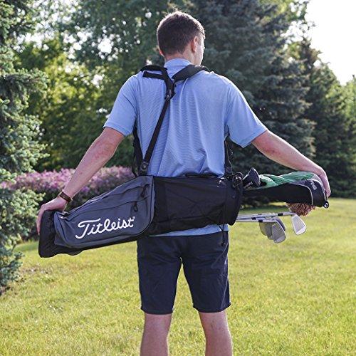 - Titleist Sunday Golf Carry Bag Black/Grey