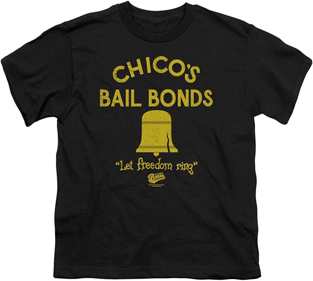 Bad News Bears Movie CHICO/'S BAIL BONDS Licensed BOYS /& GIRLS T-Shirt S-XL