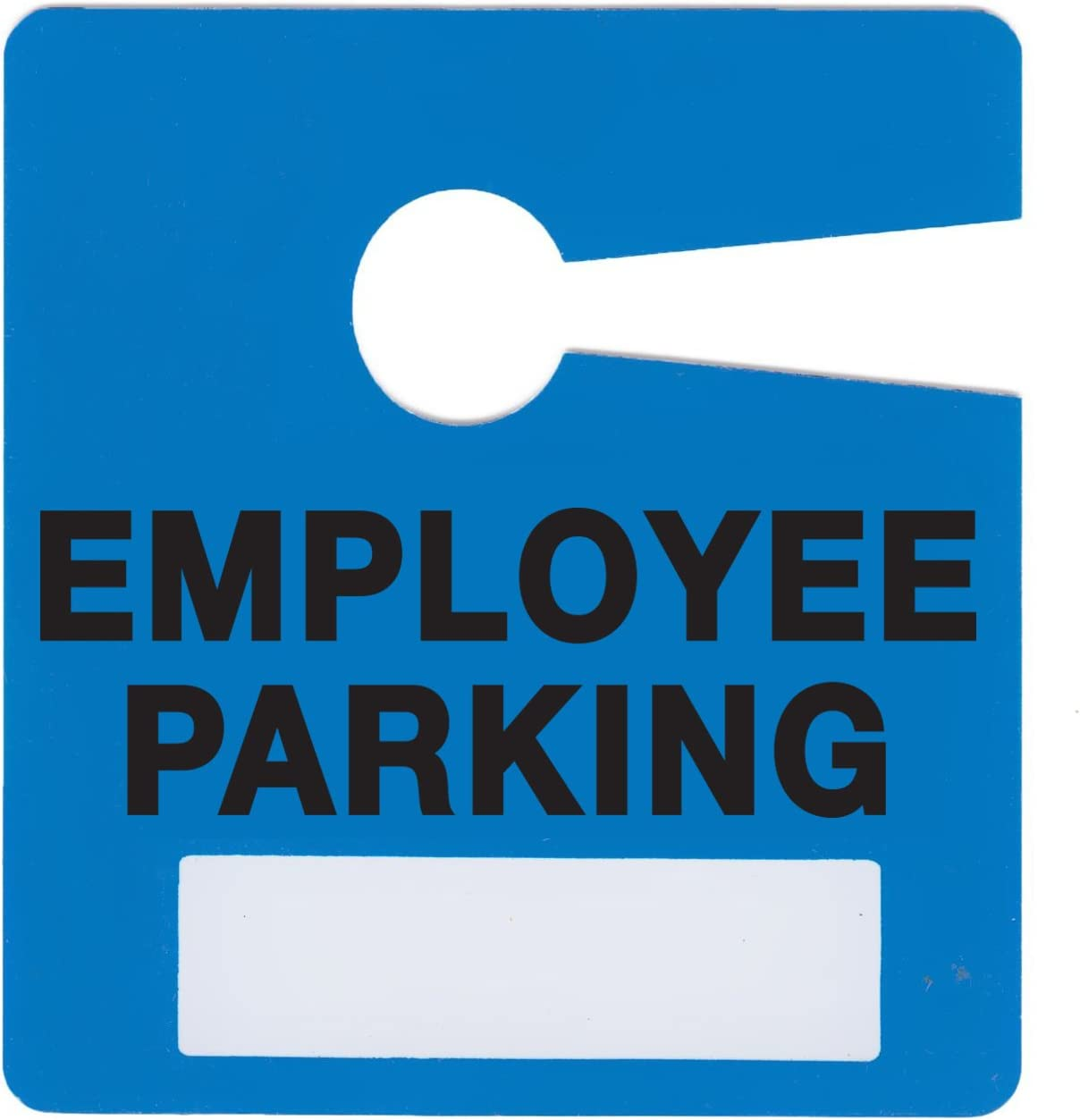 Employee Parking Permit Pass Stock Hang Tags for Office Building, Corporations, Businesses, Employers, by Milcoast, 10 Pack (Blue)