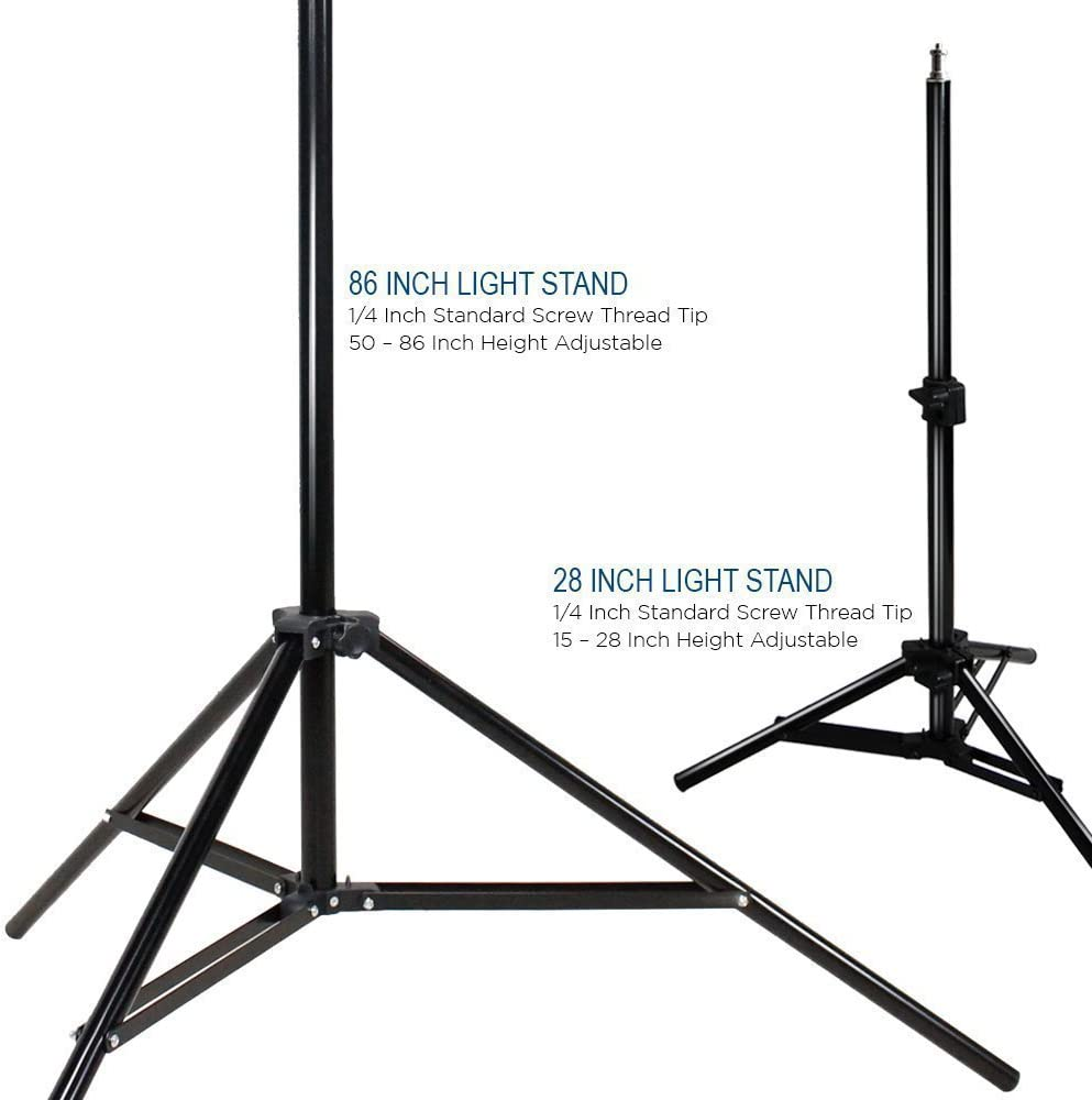 White Umbrella Reflector LimoStudio 600W 5500K Photo Video Studio Continuous Lighting Bundle Kit UL1573 ETL Listed Photo Bulb Socket Photography Studio Stand Carry Bag Light Stand Tripod AGG293V2