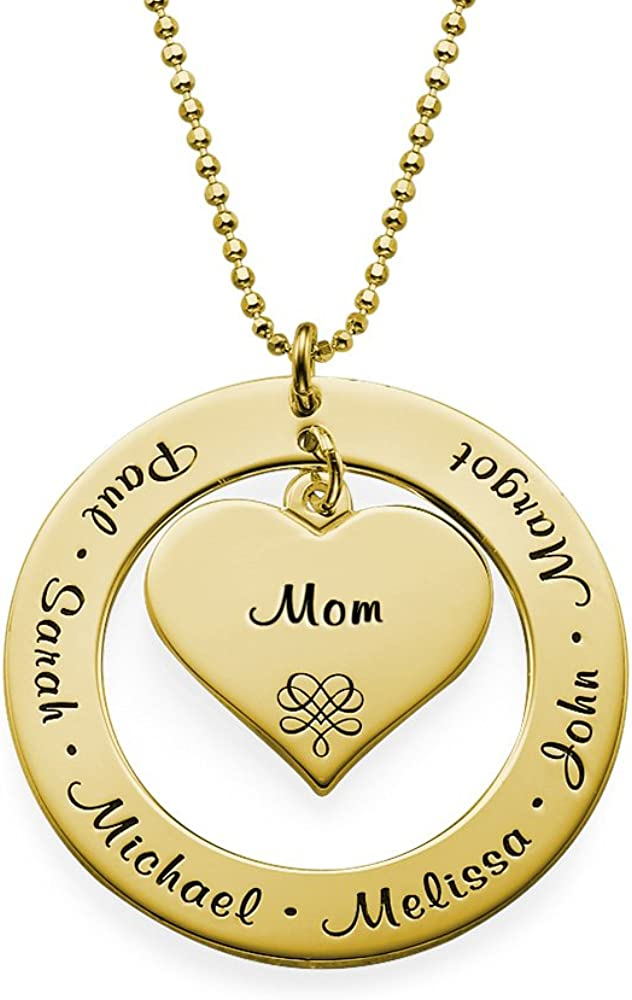 Mini Silver Mother in Law CUSTOM MESSAGE Dainty Family Tree Necklace Dogeared Small Gift Groom Grandmother Chain Gold Wife