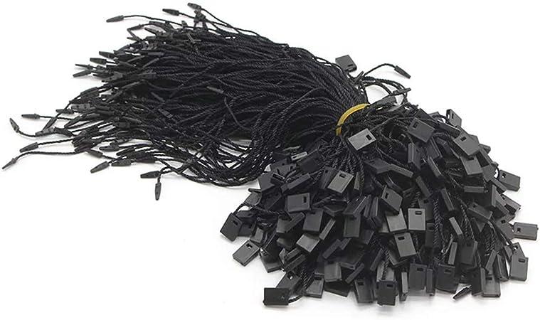 """Nylon Black Hang Tag String Snap Lock Pin Loop Fastener Hook Ties 7/"""" 1000 Piece"""