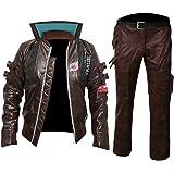 "KAAZEE Cyberpunk 2077"" V Samurai Leather Jacket Cosplay Costume"