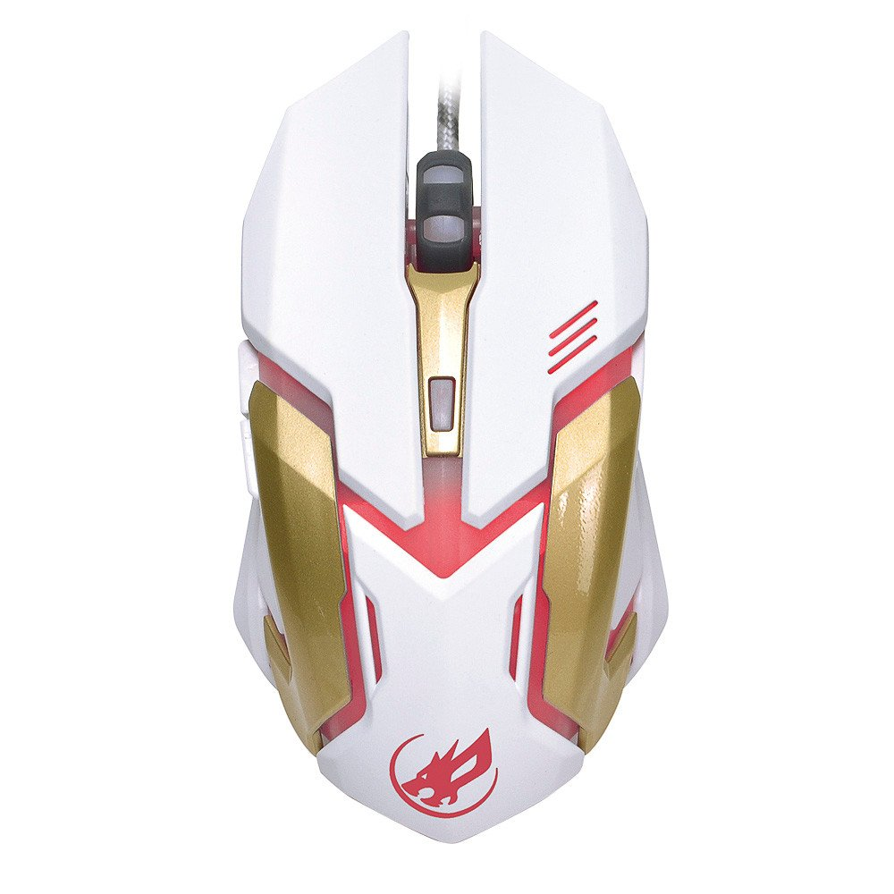 Ergonomic Design UP to 2400DPI 6-Button Colorful Breathing Light for Gamer Laptops Game Mice,Deep Crack Design AcisuHu Gaming Wired Mouse-