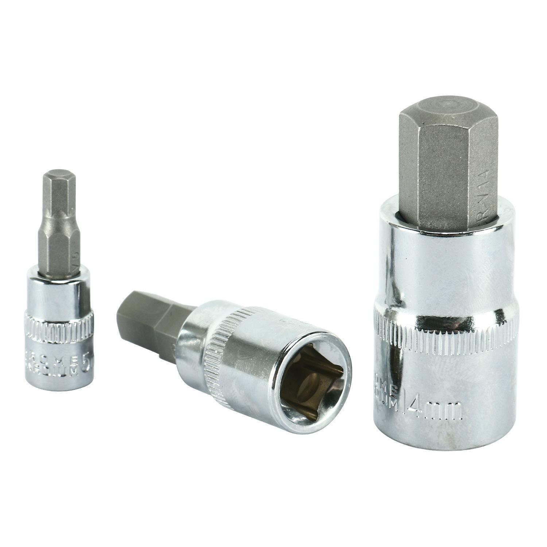 FreeTec Hex Allen Kit Socket Wrench Bit Tool 13pc Set Compatible for Ratchet Metric