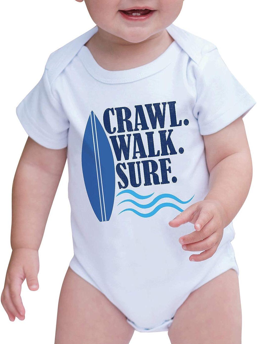 Summer SURF Baby Unisex 100/% Organic Cotton Bodysuit Rompers 0-2T